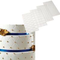 4pcs Embossing Mat Textured Mat for Cake Decorating 3D Lace Effect Fondant