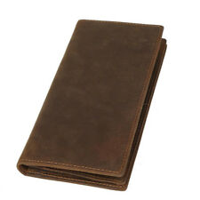 Vintage Men Leather Clutch Long Wallet Cowboy Purse Phone Card Ticket Coin Purse