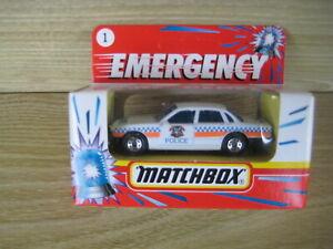 MATCHBOX SUPERFAST   MB1 JAGUAR XJ6  POLICE Region ABSOLUTELY MINT Emergency Box