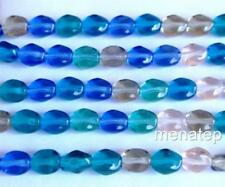environ 38.10 cm 4 mm Faceted Watermelon Tourmaline Gem Loose Beads 15 in