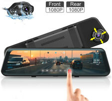 "12""1080P Dual Lens Car DVR AZDOME Dash Cam Video Camera Recorder Rearview Mirror"