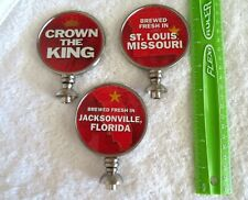 Lot Of 3 Brand New Budweiser Beer 2 Sided Tap Handle Toppers
