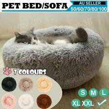 🏆Pet Dog Cat Calming Bed Warm Soft Plush Round Nest Comfy Sleeping Kennel Cave