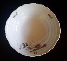 Antique Vintage Haas Czjzek Czech Bowl Pink Moss Rose 15 Early 1900's