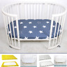 Portable Baby Crib Cotton Fitted Sheet Bed Cot Bedding Mattress Cover Cradle
