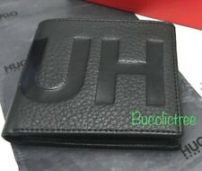 MEN'S HUGO BOSS LEATHER WALLET BLACK 'Victorian L 4 cc' BIFOLD RRP £99 BOXED