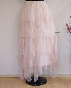 "Moonshine Fashion° Lagenlook ""Hexen"" Zipfel Tüllrock Batik ~  Rosé ~ 3"