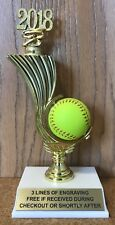 SOFTBALL TROPHY - FREE ENGRAVING - EASY ASSEMBLY REQUIRED