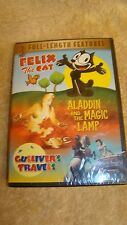 FELIX THE CAT & OTHER CARTOON  Aladdin & the Magic Lamp & Gullivers Travels NEW