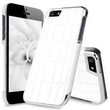 For Apple iPhone 5 5S SE Brick Wall Vinyl Aluminum Chrome Hard Back Phone Case