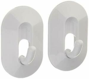 Wall Mounted Magnetic Classic Hook, 2-Pack, White