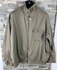 Adidas Golf Mens 46 - 48 Chest XXL beige Waterproof Vintage Coat Jacket