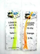 Dragon Fly Fishing Braided Leader Loops Fly Fishing, Line Loop Connectors Hi Vis
