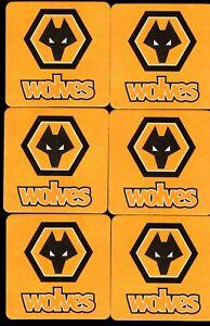 WOLVERHAMPTON WANDERERS F.C. pack of Beer Mats / Coasters FREE POST UK WOLVES