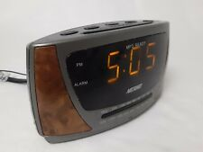 Nelsonic MP3 Ready AM/FM Alarm Clock Radio NL0592 TESTED WORKS!