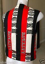 VERSACE JEANS COUTURE 90s cotton men's vest Rock'n Royalty print Italian size M