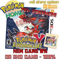 Pokemon Y ALL 721 Pokemon Living Dex Shiny or Nonshiny All Items and Money 3DS