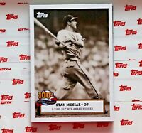 2020 TOPPS ST LOUIS CARDINALS STAN MUSIAL 100th BIRTHDAY CELEBRATION CARD #2
