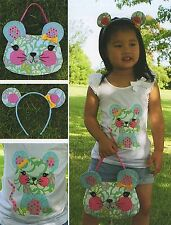 LITTLE MISS MOUSE - Sewing Craft PATTERN - Soft Toy Felt Doll Childs Bag