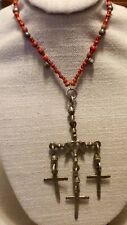 Yalalag Sterling Cross Pendant Necklace