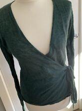 TOAST delicate Forest Green Warp Cardigan Summer Mohair Medium BNWT Rrp £95