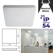 Square LED Bathroom Ceiling Light Waterproof Lamp 18W IP54 Neutral White Outdoor