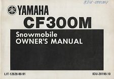 1988 YAMAHA SNOWMOBILE  CF300M OWNERS MANUAL 12628-00-91 (342)