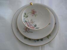One Vintage ZEH SCHERZER Bavaria Germany China Fine Porcelain Saucer&Plate-3 pcs