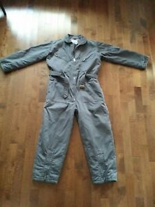 Vintage SEARS Work Leisure Zip-Up COVERALLS Mens 42R Gray Michael Myers
