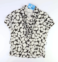 Collection Womens Size 14 Spotted White Blouse (Regular)