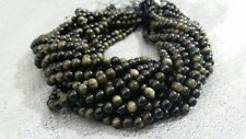 """Golden Obsidian 6-10mm,Round Smooth Loose Gemstone Beads 16""""Long.< 00003304 /a>"""
