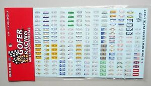 LICENSE PLATES 1:24 1:25 GOFER RACING DECALS CAR MODEL ACCESSORY 11001-R