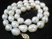 """NEW natural 8-9mm white akoya freshwater pearl necklace 18""""AAA"""