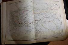 Cartes Delamarche 1854, en coul, l'Asie Mineure