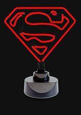 Neon Logotipo de Superman Noche Luz Lámpara-LED Tubo Fluorescente señal (Dormitorio Mesa)
