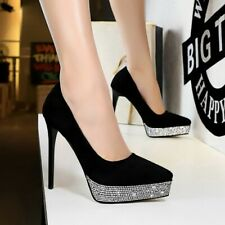 Womens Sexy Very High Heels Sequins Glitter Pumps Shoes Party Nightclub Shoes