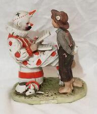 "5.5"" Saturday Evening Post Porcelain Figurine 1981 ""Circus"" Clown & Boy Figurine"