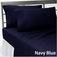 Choose Bedding Items 1000 TC-Doona/Fitted/Flat Egyptian Cotton Navy Blue Solid