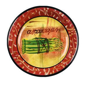 "Certified International Multicolor Ceramic Asparagus Tuscan Soup Pasta Bowl 9.5"""