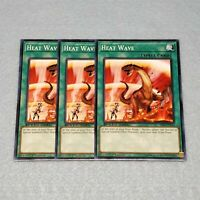 3x Yugioh Heat Wave 1st Edition Card Playset NM Speed Dueling SS03