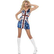Smiffys Fever All that Glitters Rule Britannia Costume - Blue - UK Dress 16-18