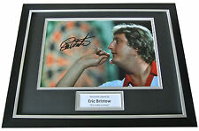 Eric Bristow Signed FRAMED Photo Autograph 16x12 Display Darts Signing PROOF COA