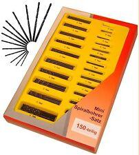 MINIBOHRER 150 Stück im Koffer SPIRALBOHRER 0,4 - 3,2mm !NEU!