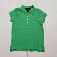 New with tag NWT Girls RALPH LAUREN Green Short Sleeve POLO Summer Shirt 5