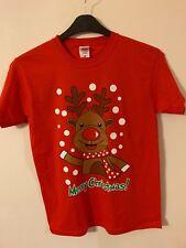 Unisex Mens Womens Xmas Christmas T Shirt Novelty Santa Reindeer Snowman penguin