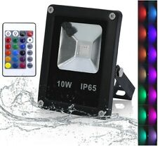 Foco proyector led RGB 10w Impermeable con mando 16 colores Exterior