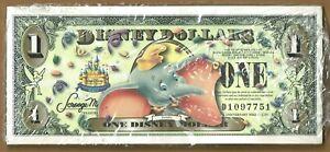 New Disney Dollars 2005 $1 One Dollar Dumbo Sealed Pack of 25 Disneyland's 50th