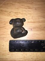 Griswold Pup Paperweight Solid Cast Iron Metal Dog +/- 1/4Lb! Vg Patina Finished