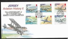 GB Jersey 2009 FDC Aviation History X fine used stamps on cover