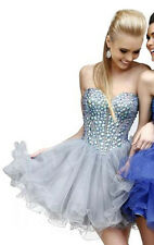 $410 NWT SILVER MIST SHERRI HILL BABYDOLL HOMECOMING/PAGEANT DRESS #21190 SIZE 4